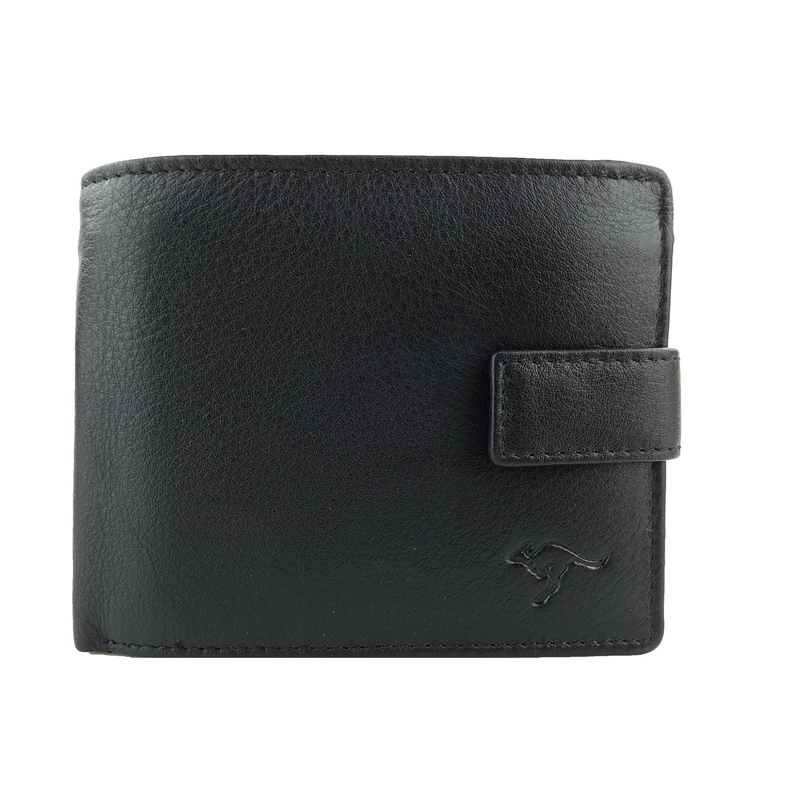 R006ktz K Black Mens Full Grain Leather Wallet Rfid
