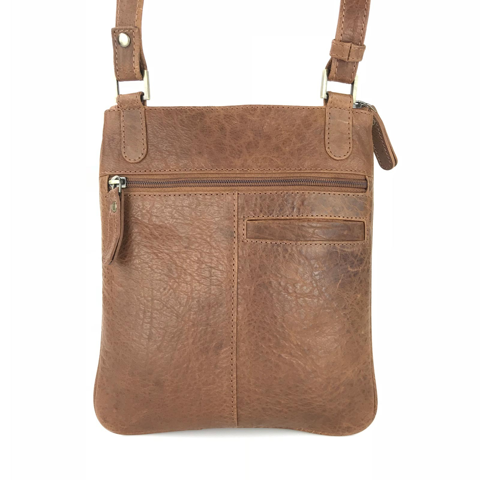 2e7b0eb69363 BF-6485 Laurentino Ladies Leather Cross Body Bag-Tan