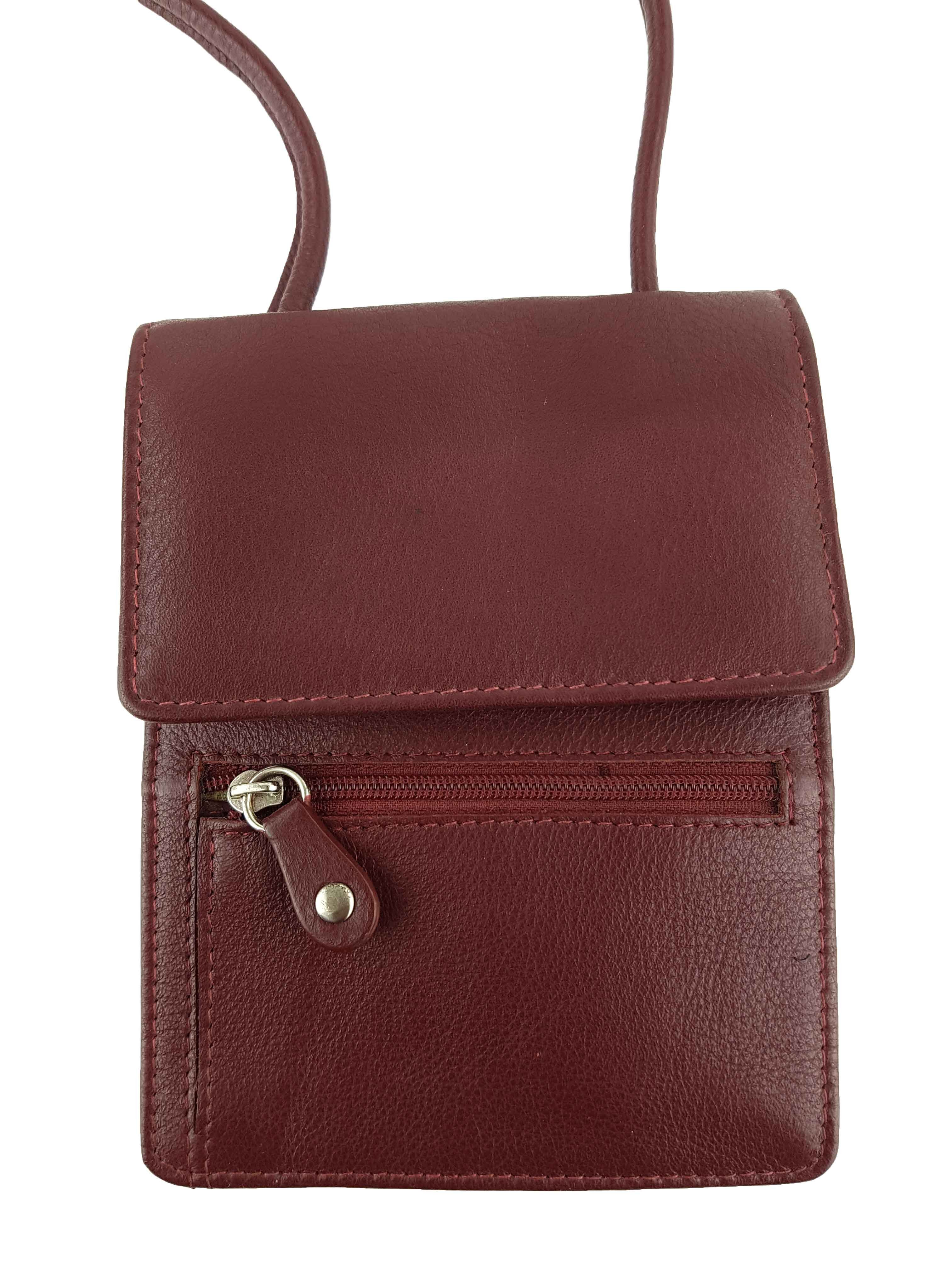 e80772d8 475P Red Full Grain Leather Travel Pouch